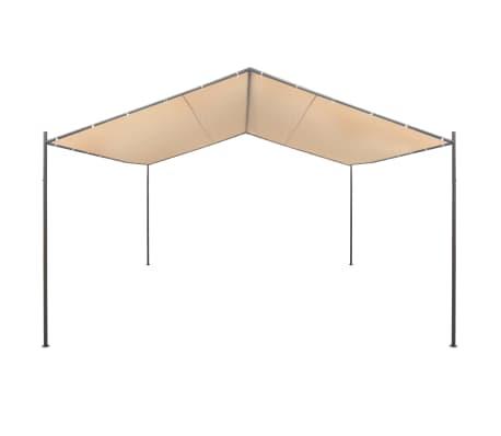 vidaXL Altana/namiot ogrodowy, 4x4 m, stal, beżowy[2/8]