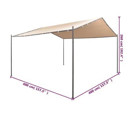 vidaXL Altana/namiot ogrodowy, 4x4 m, stal, beżowy[8/8]