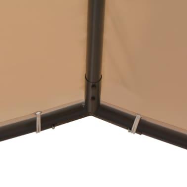 vidaXL Altana/namiot ogrodowy, 4x4 m, stal, beżowy[4/8]