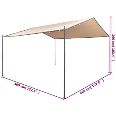 Vidaxl cenador carpa 4x4 m de acero beige for Carpas 4x4 precios