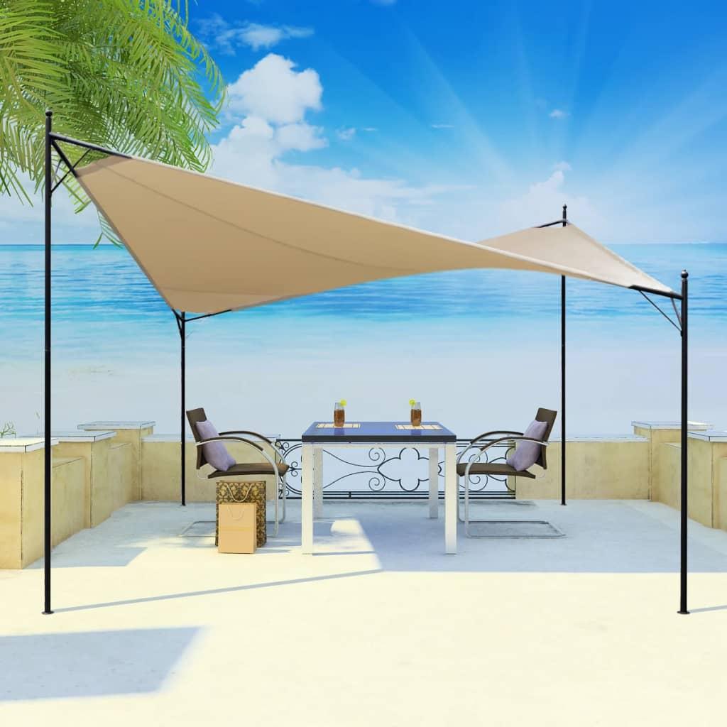 vidaXL Pânză parasolar tip pavilion, 4 x 4 m poza vidaxl.ro