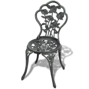 vidaXL Bistro kėdės, 2 vnt., žalios, 41x49x81,5 cm, lietas aliuminis[2/6]