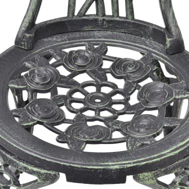 vidaXL Bistro kėdės, 2 vnt., žalios, 41x49x81,5 cm, lietas aliuminis[4/6]