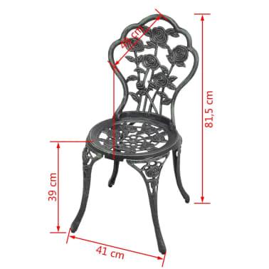 vidaXL Bistro kėdės, 2 vnt., žalios, 41x49x81,5 cm, lietas aliuminis[6/6]