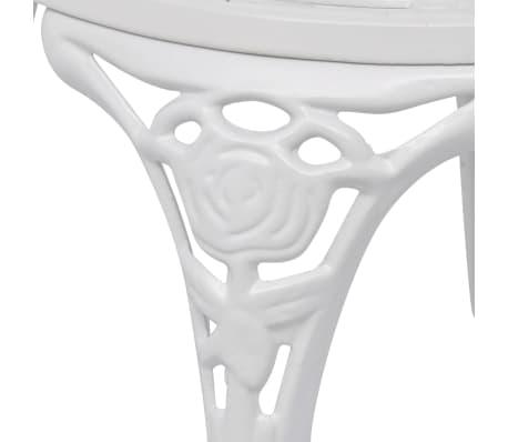 vidaXL Sillas de jardín bistró 2 unidades aluminio fundido blanco[4/5]