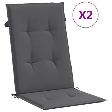 "vidaXL Garden Chair Cushions 2 pcs Anthracite 47.2""x19.7""x1.18""[2/9]"