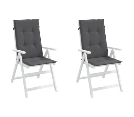 vidaXL Almofadões para cadeiras de jardim 2 pcs antracite 120x50x3cm[3/9]