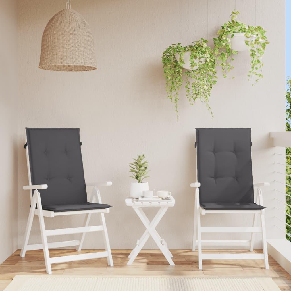 vidaXL Polstry na zahradní židle 2 ks, antracitové, 120x50x3 cm