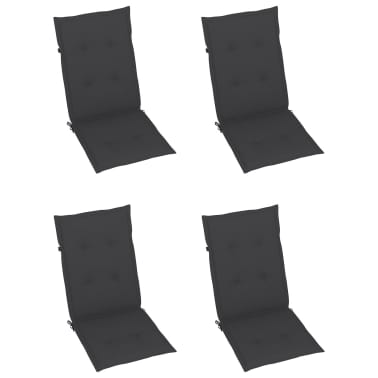 "vidaXL Garden Chair Cushions 4 pcs Anthracite 47.2""x19.7""x1.18""[3/9]"