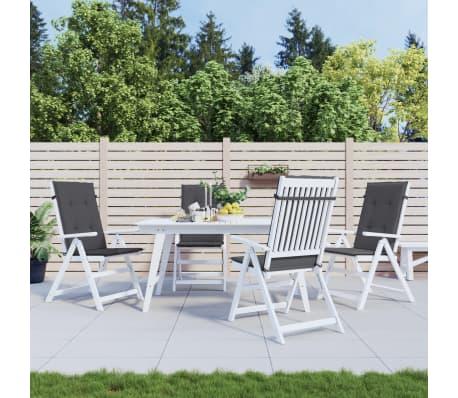 Vidaxl cojines para sillas de jard n 4 unidades antracita for Cojines sillas jardin