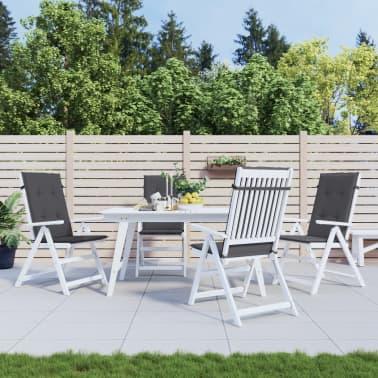 "vidaXL Garden Chair Cushions 4 pcs Anthracite 47.2""x19.7""x1.18""[1/9]"