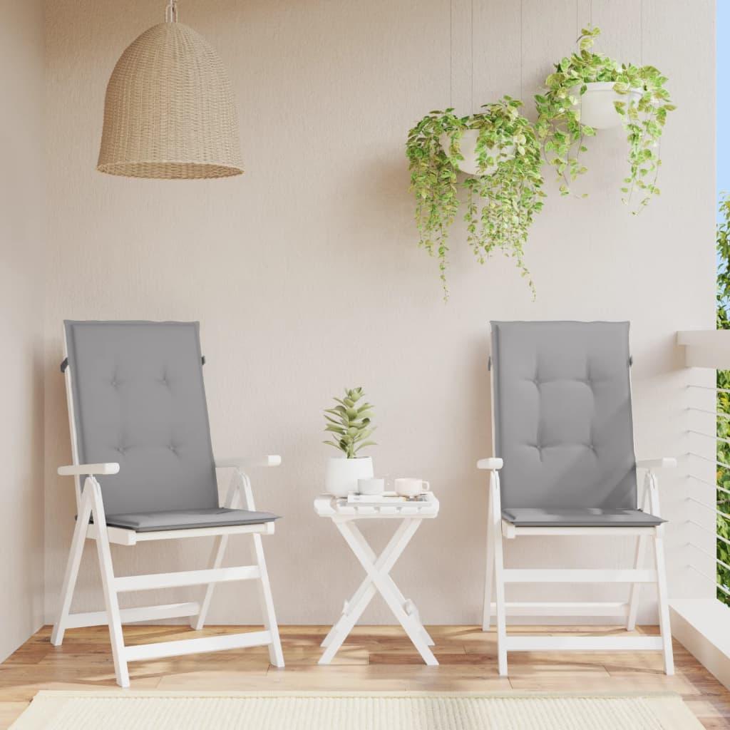 vidaXL Polstry na zahradní židle 2 ks, šedé, 120x50x3 cm