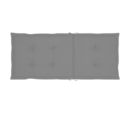 "vidaXL Garden Chair Cushions 4 pcs Gray 47.2""x19.7""x1.18""[6/9]"