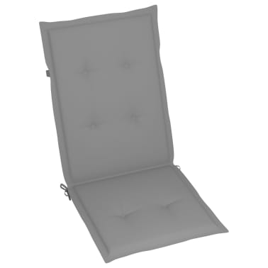 "vidaXL Garden Chair Cushions 4 pcs Gray 47.2""x19.7""x1.18""[4/9]"
