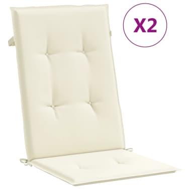 """vidaXL Garden Chair Cushions 2 pcs Cream 47.2""""x19.7""""x1.18""""[2/9]"""
