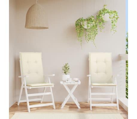 vidaxl cojines para sillas de jard n 2 unidades crema