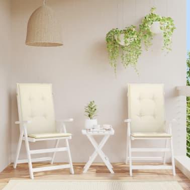 """vidaXL Garden Chair Cushions 2 pcs Cream 47.2""""x19.7""""x1.18""""[1/9]"""