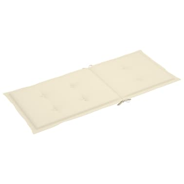 "vidaXL Garden Chair Cushions 4 pcs Cream 47.2""x19.7""x1.18""[4/9]"