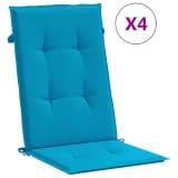 vidaXL Perne scaun grădină, 4 buc, albastru, 120x50x3 cm