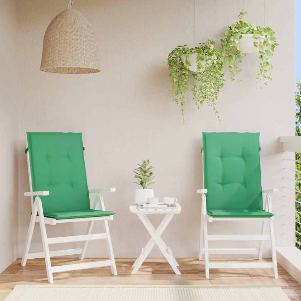 vidaXL Perne scaun de grădină, 2 buc, verde, 120 x 50 x 3 cm poza vidaxl.ro