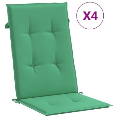 vidaXL Perne scaun de grădină, 4 buc, verde, 120x50x3 cm[2/9]