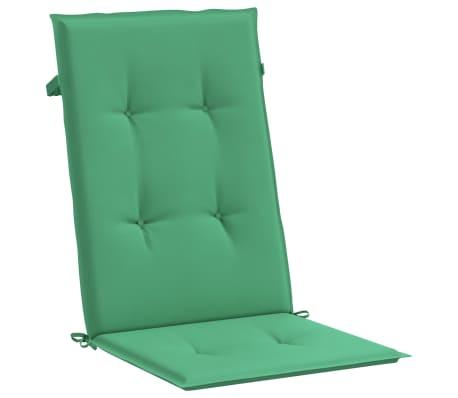 vidaXL Perne scaun de grădină, 4 buc, verde, 120x50x3 cm[4/9]