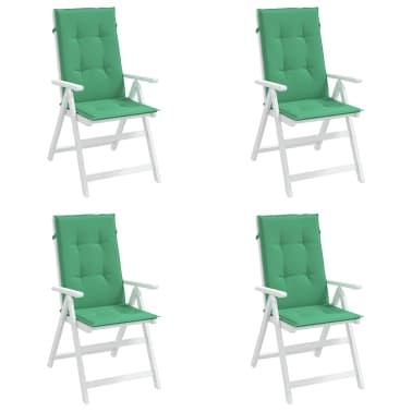 vidaXL Perne scaun de grădină, 4 buc, verde, 120x50x3 cm[3/9]