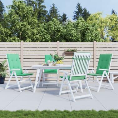 vidaXL Perne scaun de grădină, 4 buc, verde, 120x50x3 cm[1/9]