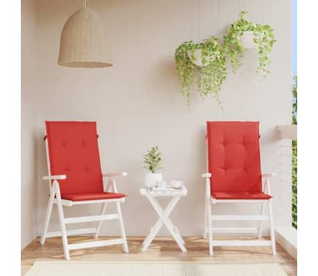 Vidaxl cojines para sillas de jard n 2 unidades rojos - Cojines para sillas de jardin ...