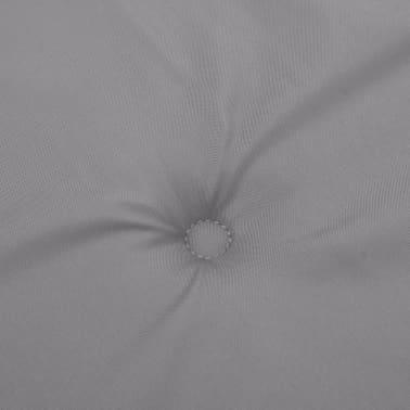 vidaXL Pernă pentru bancă de grădină, gri, 120x50x3 cm[5/6]