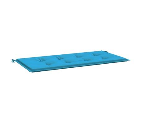 vidaXL Almofadão para banco de jardim 120x50x3 cm azul