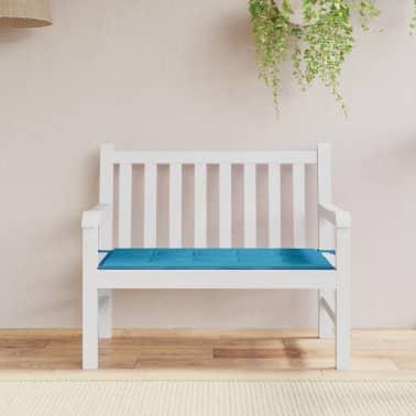 vidaxl gartenbank auflage blau 120 x 50 x 3 cm g nstig kaufen. Black Bedroom Furniture Sets. Home Design Ideas