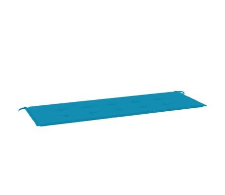 vidaXL Almofadão para banco de jardim 150x50x3 cm azul