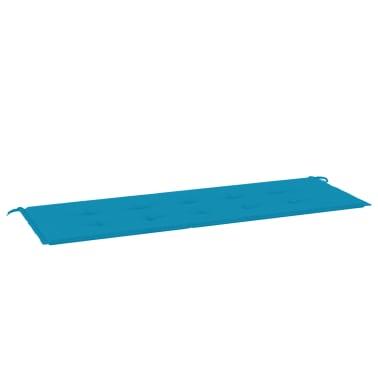 vidaXL Pernă pentru bancă de grădină, albastru, 150x50x3 cm[2/6]
