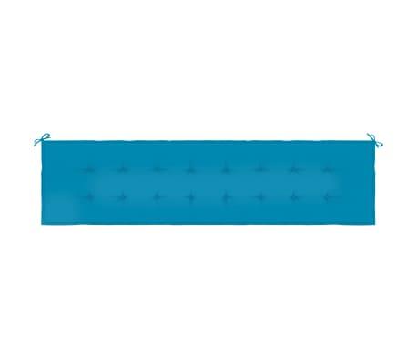 vidaXL Pernă pentru bancă de grădină, albastru, 150x50x3 cm[4/6]