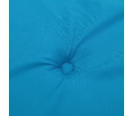 vidaXL Pernă pentru bancă de grădină, albastru, 150x50x3 cm[5/6]