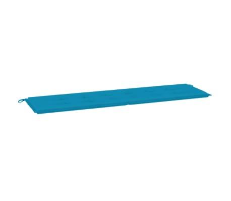 vidaXL Almofadão para banco de jardim 180x50x3 cm azul