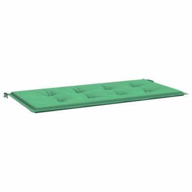 vidaXL Pernă pentru bancă de grădină, verde 120x50x3 cm[2/6]