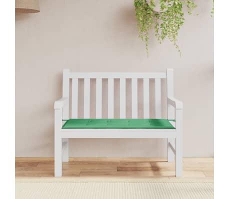 vidaXL Pernă pentru bancă de grădină, verde 120x50x3 cm[1/6]