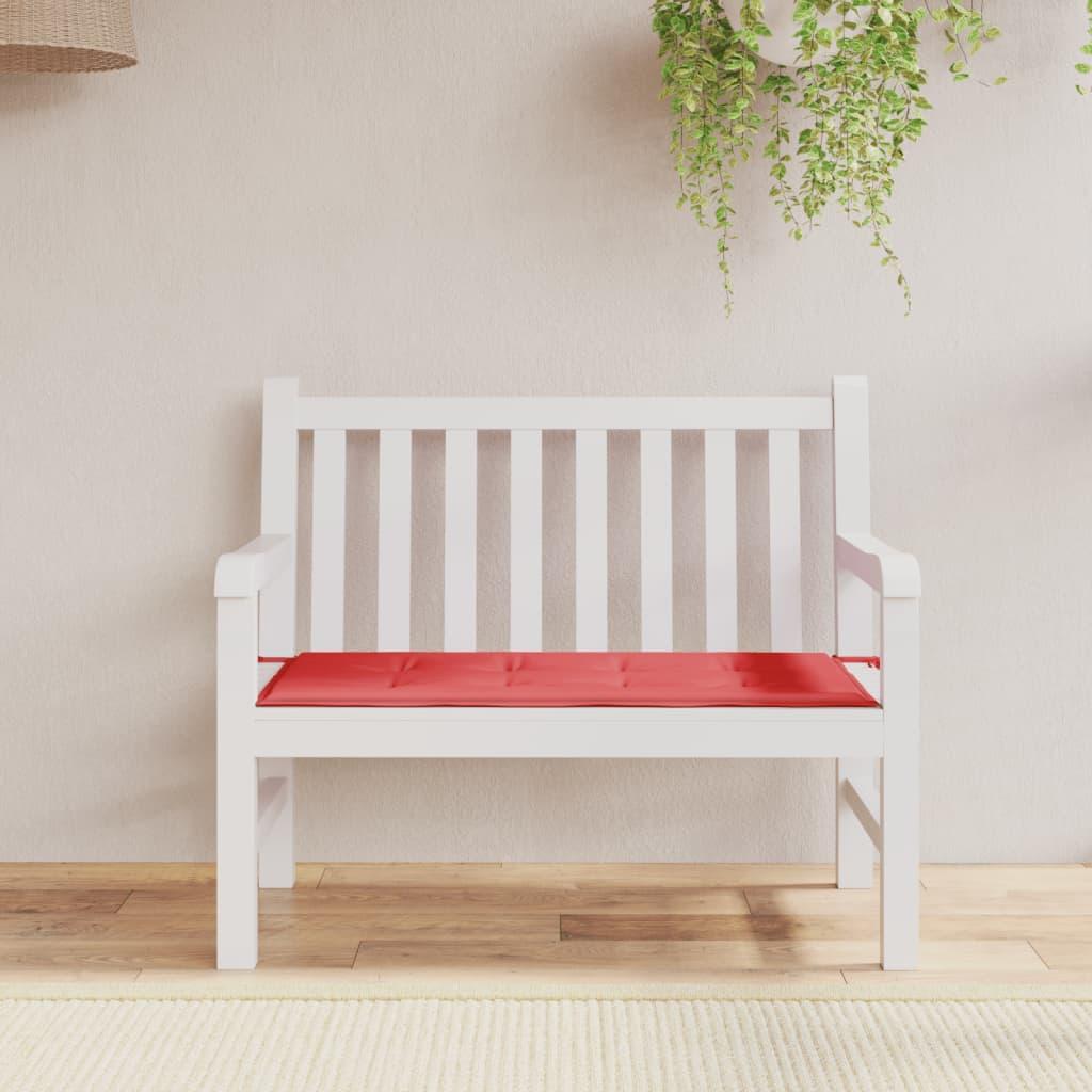 vidaXL Polstr na zahradní lavici, červený, 100x50x3 cm