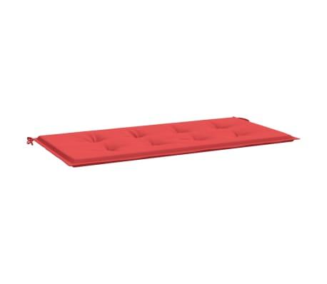 vidaXL Almofadão para banco de jardim 120x50x3 cm vermelho