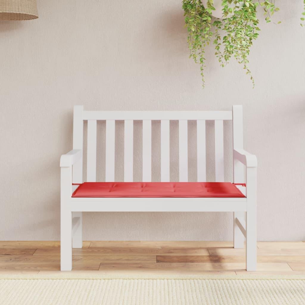 vidaXL Podsedák na zahradní lavici, červený, 120x50x3 cm