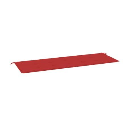vidaXL Almofadão para banco de jardim 150x50x3 cm vermelho
