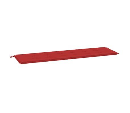 "vidaXL Garden Bench Cushion Red 70.9""x19.7""x1.2"""