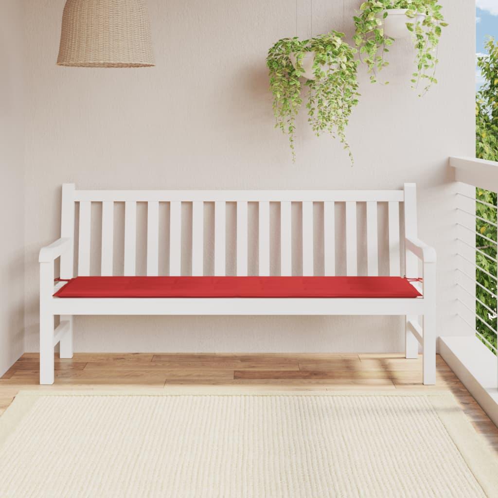 vidaXL Podsedák na zahradní lavici, červený, 180x50x3 cm