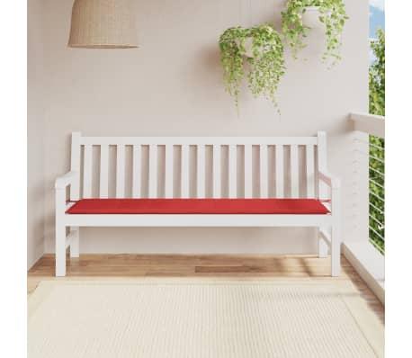 vidaxl gartenbank auflage rot 180 x 50 x 3 cm g nstig kaufen. Black Bedroom Furniture Sets. Home Design Ideas
