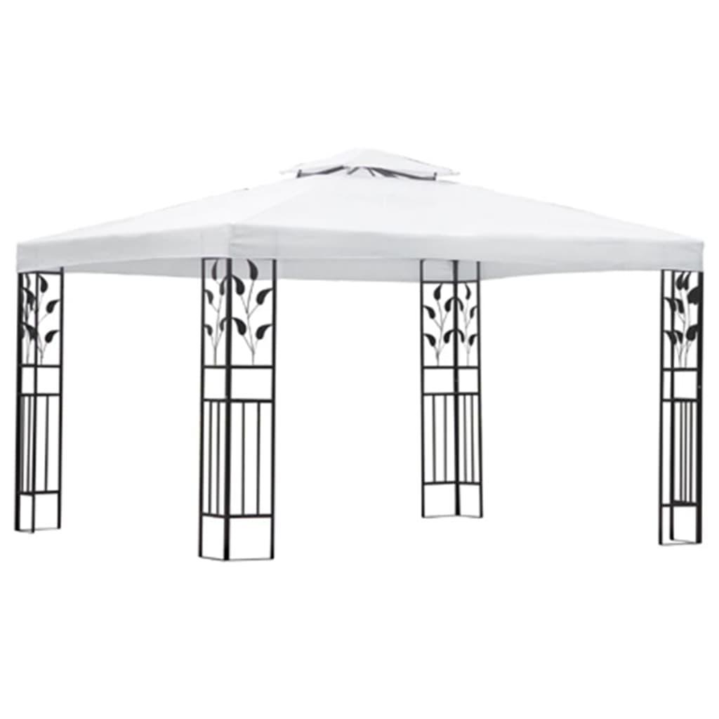 vidaXL Pavilion, alb, 3 x 4 m poza 2021 vidaXL