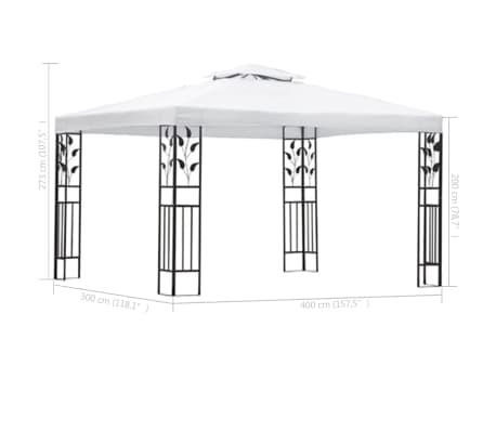 acheter vidaxl chapiteau de jardin blanc 3 x 4 m pas cher. Black Bedroom Furniture Sets. Home Design Ideas