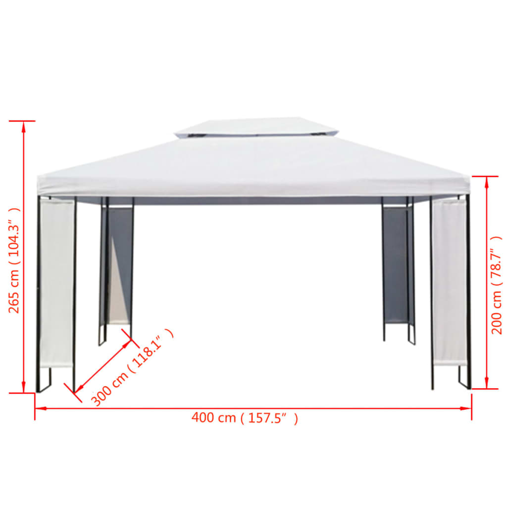 """Wedding With White Tent: 118"""" X 157"""" Canopy Outdoor Sun Shade Wedding Party Tent"""