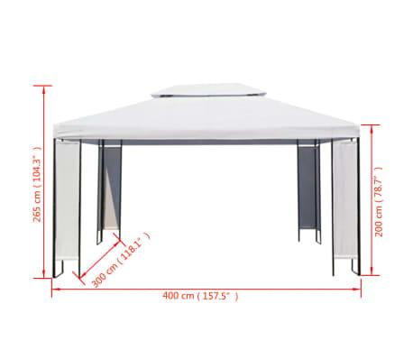 vidaxl chapiteau de jardin blanc 3 x 4 m. Black Bedroom Furniture Sets. Home Design Ideas